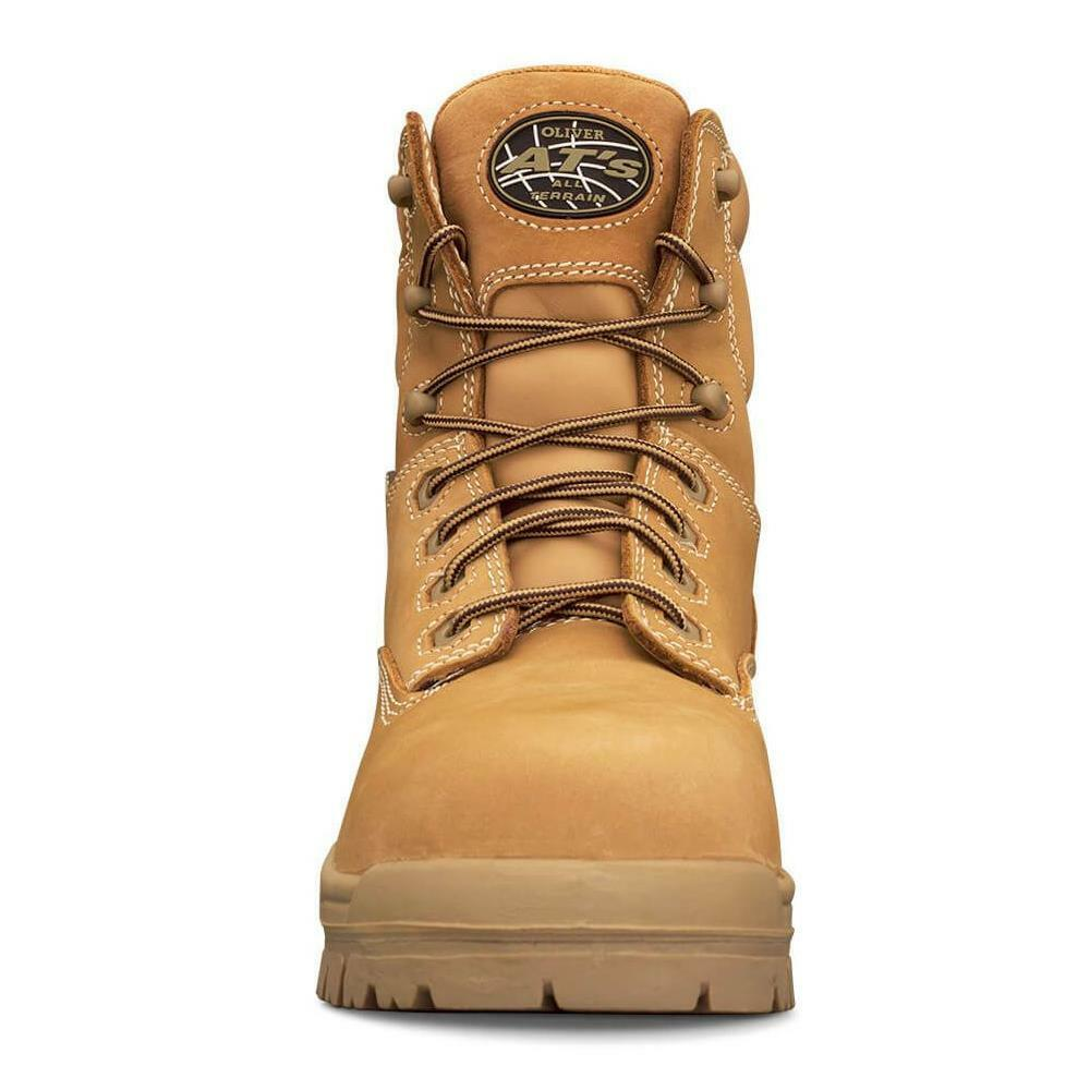 Oliver 150mm Wheat Lace Up Safety Boots 45-632