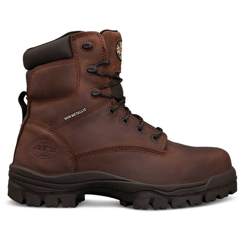 Oliver 150mm Brown Lace Up Safety Boots 45-637