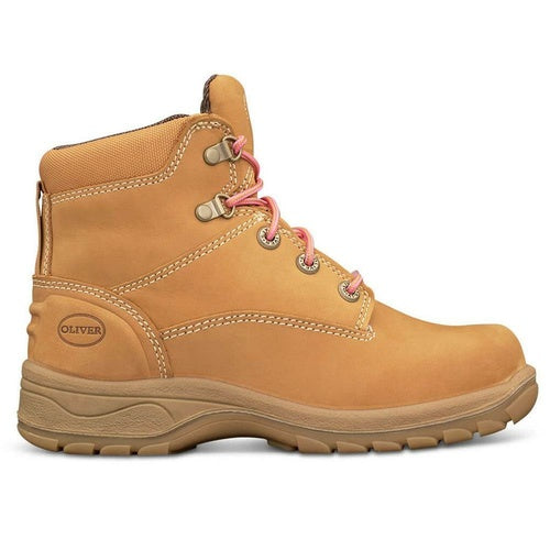 Oliver Women's Wheat Lace Up Safety Boots 49-432