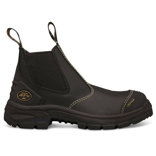 Oliver Black Elastic Sided Safety Boots 55-320