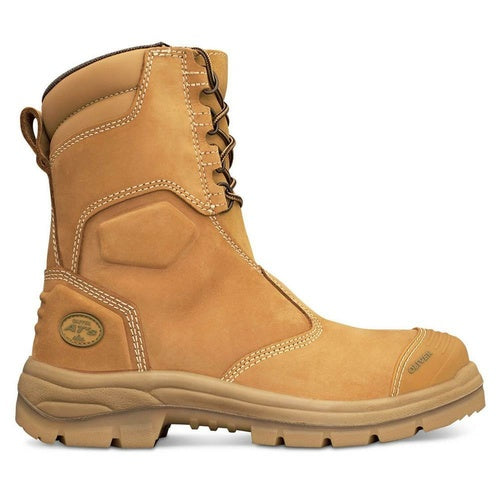 Oliver 200mm Hi-Leg Wheat Zip Sided Safety Boots 55-385