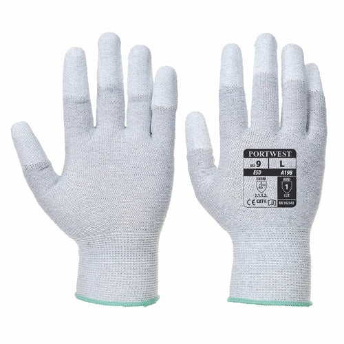 Antistatic PU Fingertip Glove