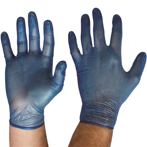 BULK BUY PACKS OF 10 -Pro Choice Safety Gear Disposable Vinyl Powder Free Gloves