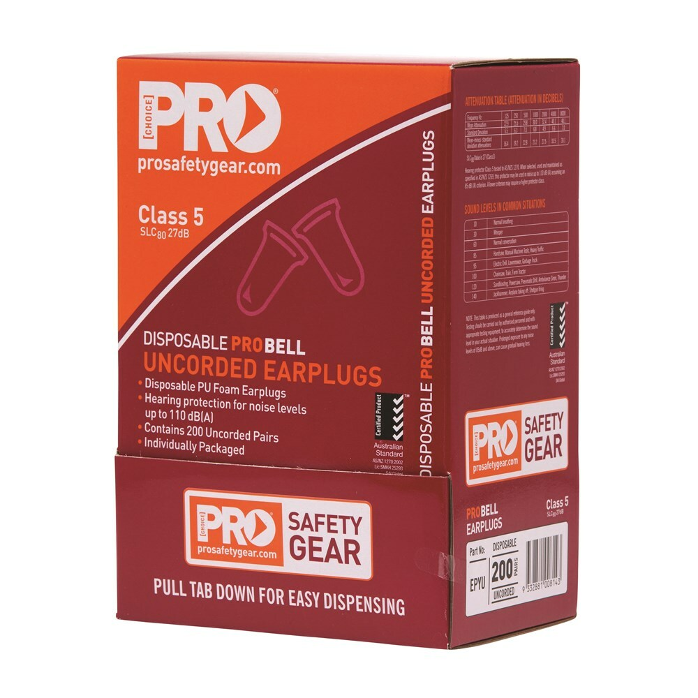 Probell Disposable Uncorded Earplugs Uncorded