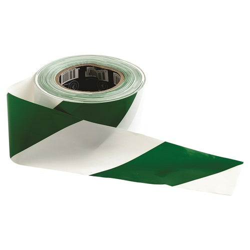 Barricade Tape - 100m x 75mm Green & White