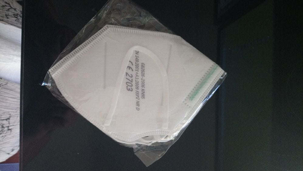 N95 DISPOSABLE MASKS WRAPPED IN TWIN PACKS (2 masks)