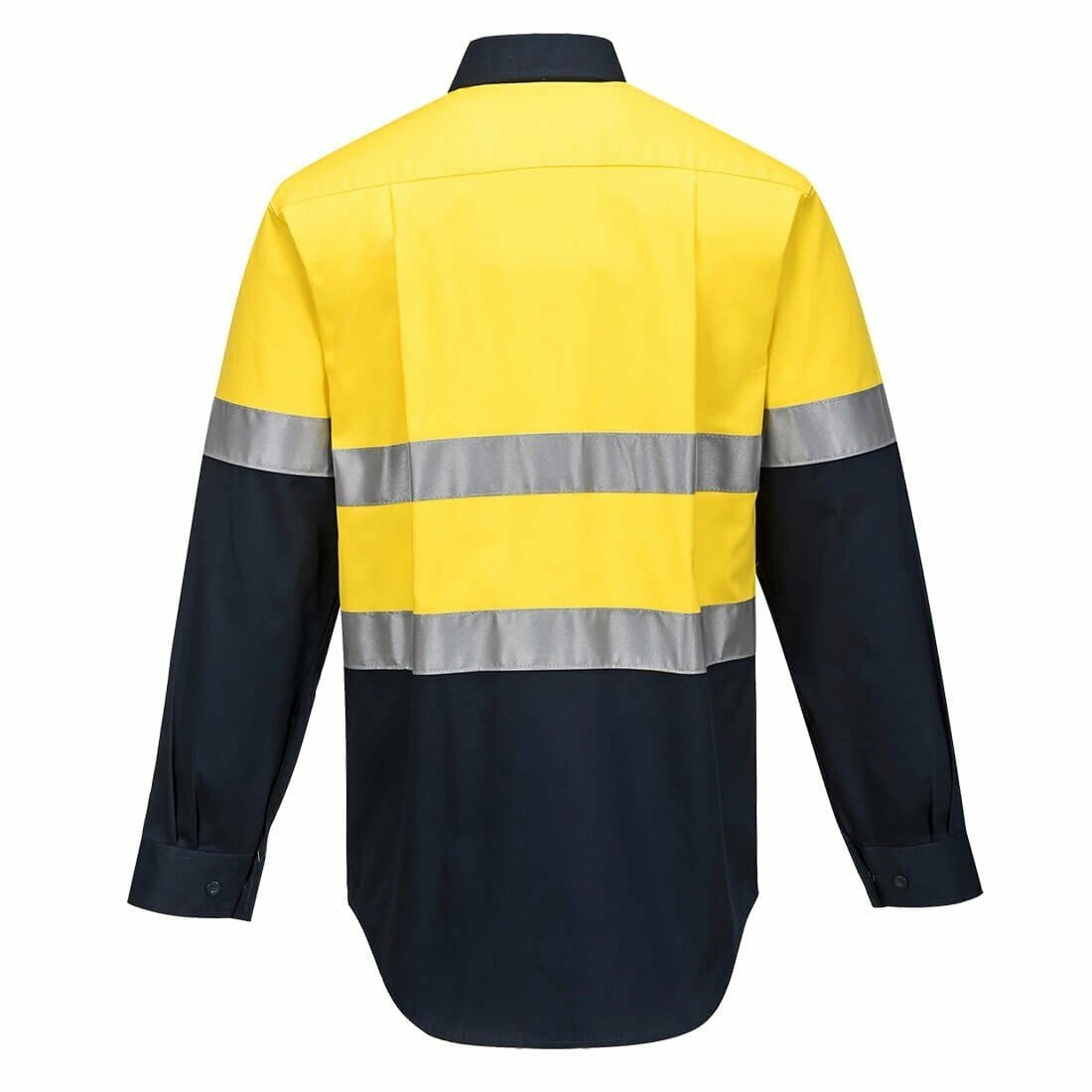 MA101 Hi-Vis Two Tone Regular Weight Long Sleeve Shirt with Tape