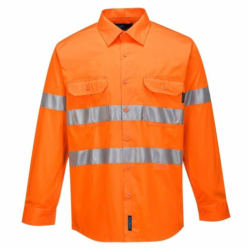 MA301 Hi-Vis Lightweight Long Sleeve Shirt with Tape