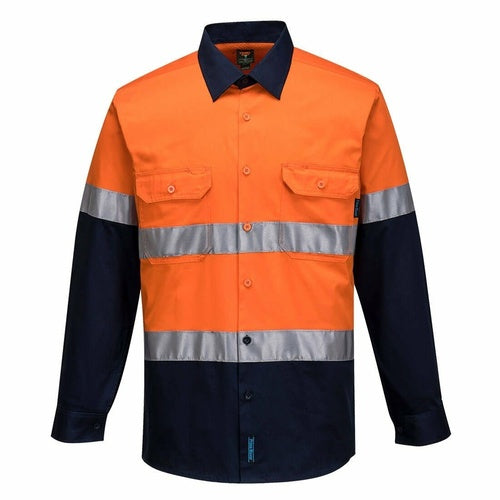 MA801 Hi-Vis Two Tone Lightweight Long Sleeve Shirt with Tape