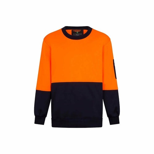 MF117 Crew Neck Single Brush Fleece Jumper