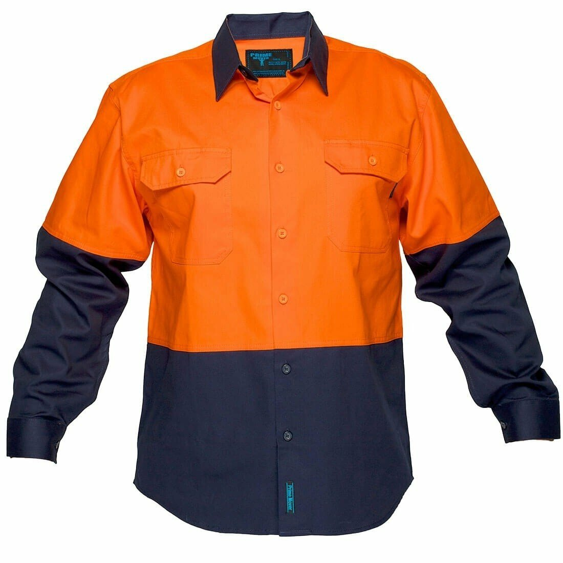 MS901 Hi-Vis Two Tone Regular Weight Long Sleeve Shirt