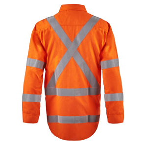 MENS HRC2 OPEN FRONT ORG SHIRT X BACK FIRE PROTECTION