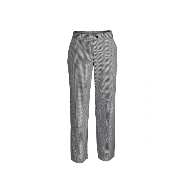 LADIES CHECK FLAT FRONT PANT