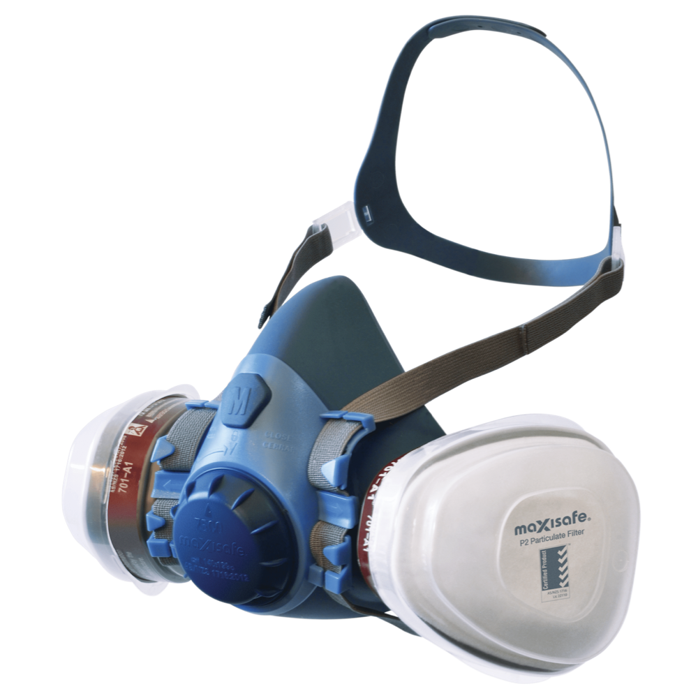RE-USABLE P2 RESPIRATOR Maxiguard Half Mask Silicone-KIT