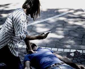 helping overdosed person