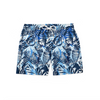 Blue Floral Swim Shorts