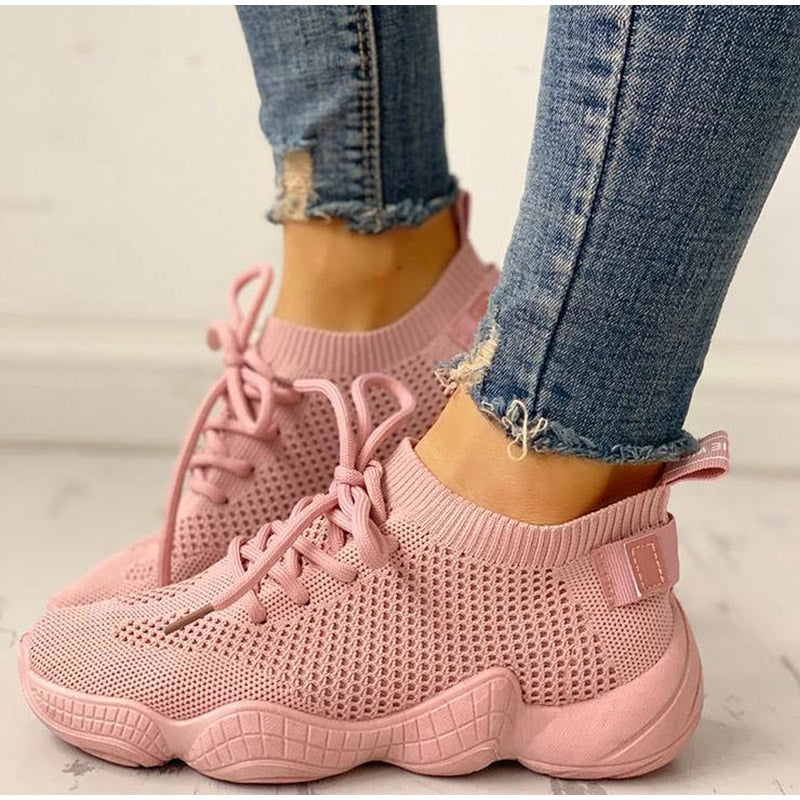 Lace Up Sock Shoes