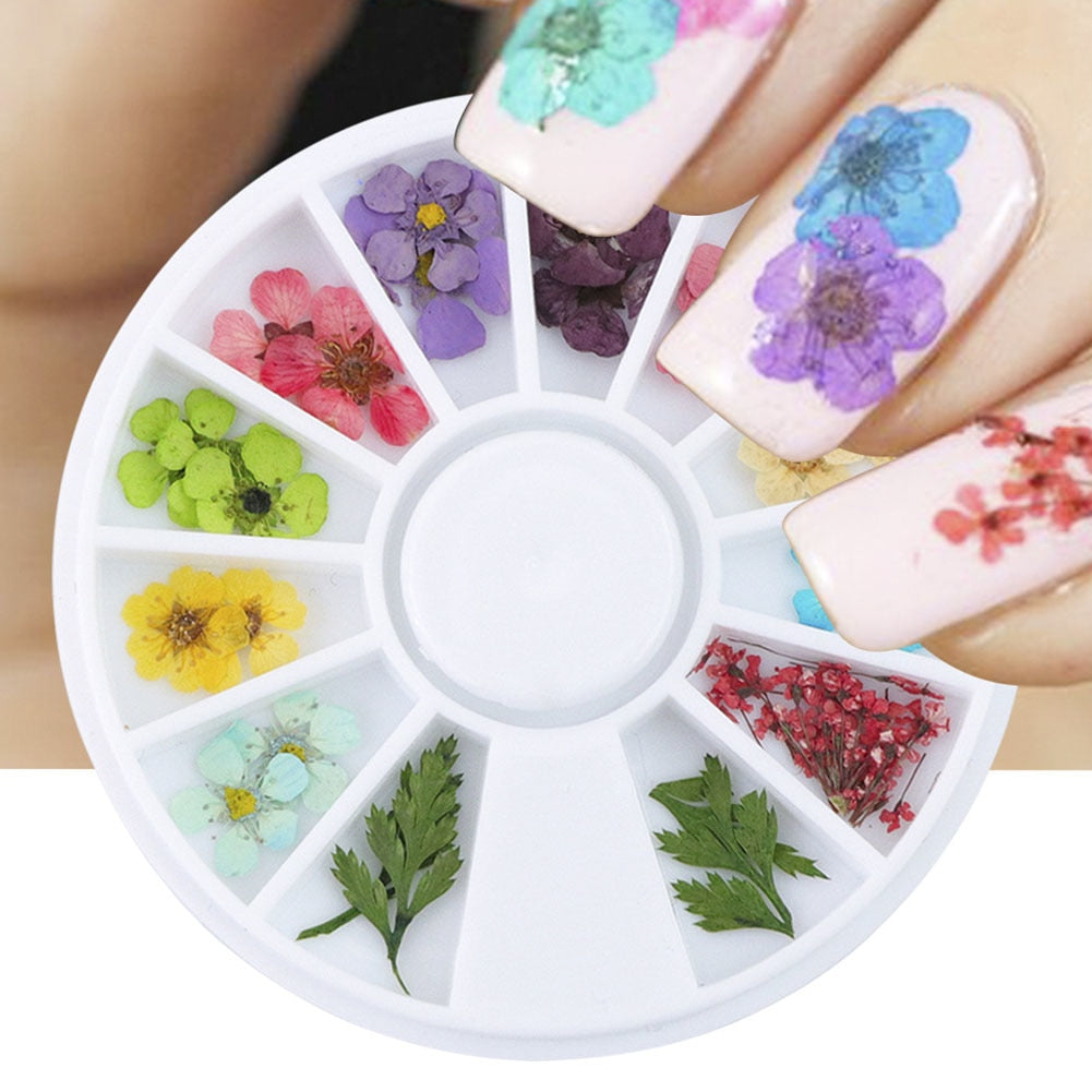 Natural Dried Flower Nail Art