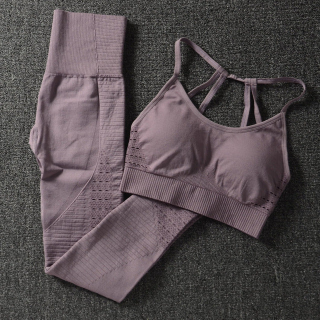 Sports Bra and Leggings Set