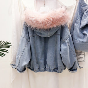 Velvet Thick Denim Jacket