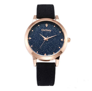 Gogoey brand Starry Sky Leather Watch