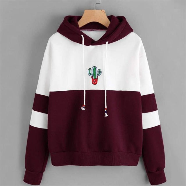 Cactus Long-Sleeved Hooded Sweatshirt
