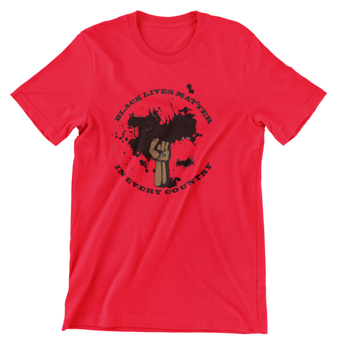 Black Lives Matter in Every Country Red T-Shirt