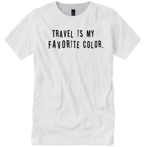 Travel is My Favorite Color. White & Black T-Shirt