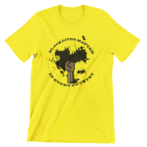 Black Lives Matter in Every Country Yellow T-Shirt