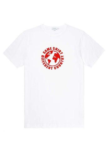 Same Shirt Different Country White & Red T-Shirt