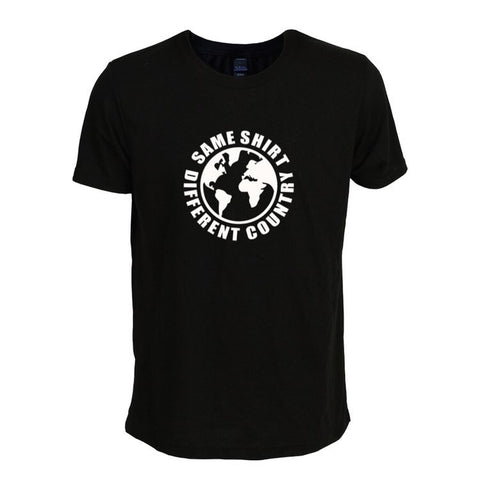 Same Shirt Different Country Black & White T-Shirt