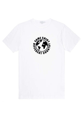 Same Shirt Different Country White & Black T-Shirt