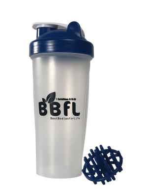 Bestbodiesforlife branded meal replacement shaker bottle