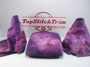 2008-14 Subaru Impreza WRX and STI Galaxy Print Suede Shift / Brake and armrest set