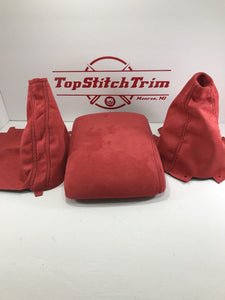 2008-14 Subaru Impreza WRX and STI Red Suede Shift / Brake and armrest set