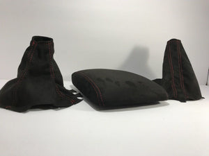 2008-14 Subaru Impreza WRX and STI Black Suede Shift / Brake and armrest set