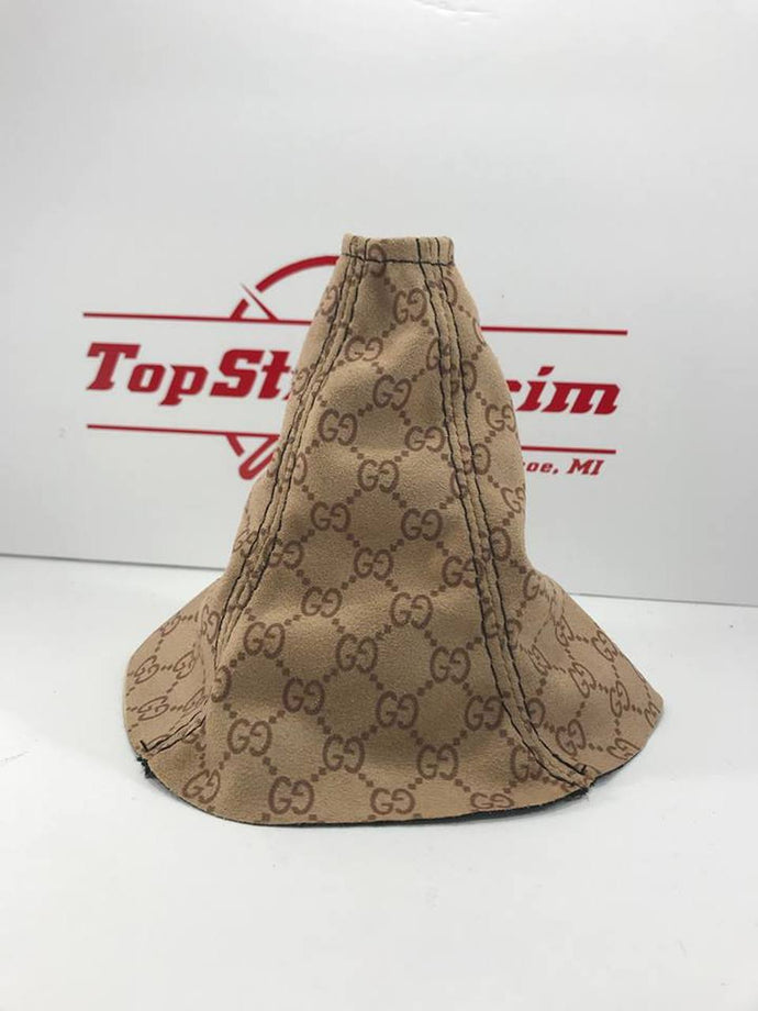 02-07 Subaru Impreza WRX or STI Tan Suede Gucci Print Shift Boot