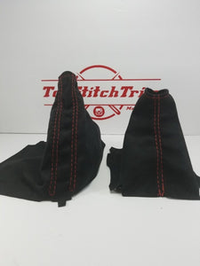 2015-18 Subaru Impreza WRX and STI Shift / Brake Boot And Armrest Black Suede