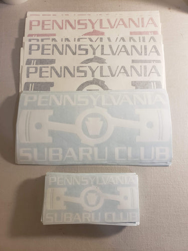 Pennsylvania Subaru Club Vinyl Decals