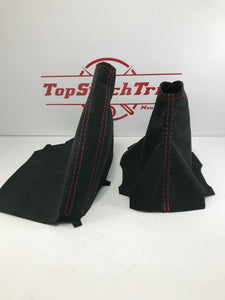 2015-2018 Subaru Impreza WRX/STI Shift/Brake Boot Combo And Black Alcantara