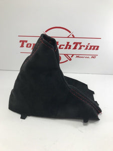 2015-18 Subaru Impreza WRX CVT Shift Boot And Brake Boot Black Suede