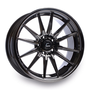 Cosmis Racing Wheels R1 18x9.5 +35 5x114.3 Black Chrome