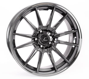 Cosmis Racing Wheels R1 18x10.5 +32 5x114.3 Black Chrome