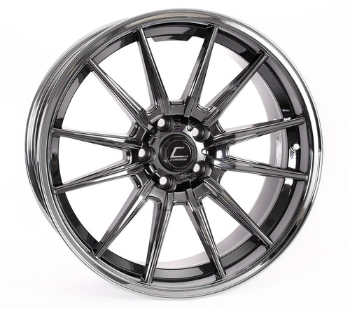 Cosmis Racing Wheels R1 18x8.5 +35 5x114.3 Black Chrome