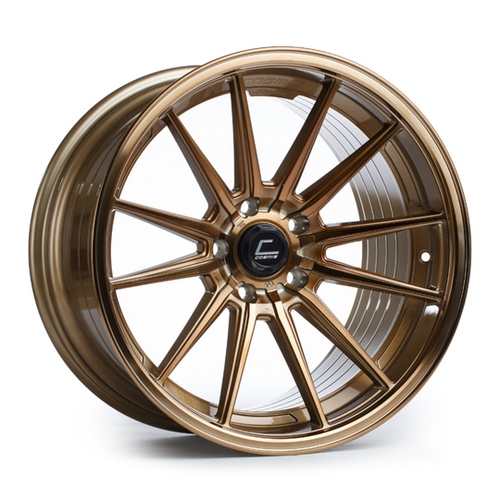 Cosmis Racing Wheels R1 18x9.5 +35 5x114.3 Hyper Bronze