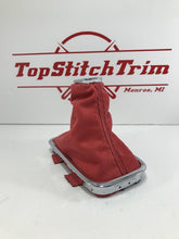 Load image into Gallery viewer, 2015-18 Subaru Impreza WRX CVT Shift Boot And Brake Boot Red Suede