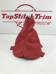 2015-18 Subaru Impreza WRX CVT Shift Boot And Brake Boot Red Suede