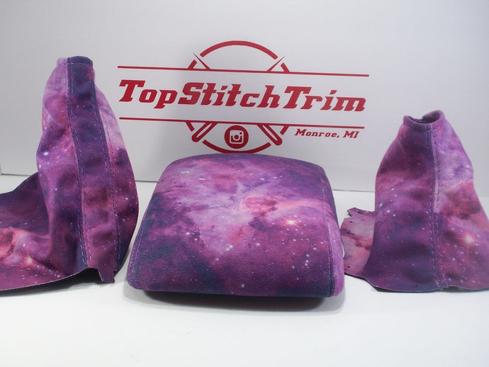 2015-18 Subaru Impreza WRX and STI Shift / Brake Boot And Armrest Galaxy Print