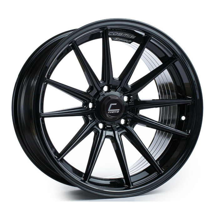 Cosmis Racing Wheels R1 18x9.5 +35 5x100 Black Wheel