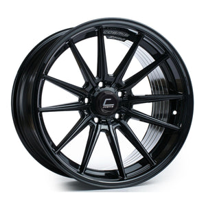 Cosmis Racing Wheels R1 18x9.5 +35 5x114.3 Black Wheel